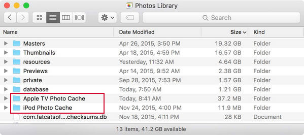 how to delete ipod photo cache on mac