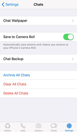 iphone whatsapp medias save to camera roll