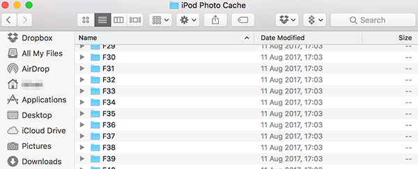 what is ipod photo cache on mac