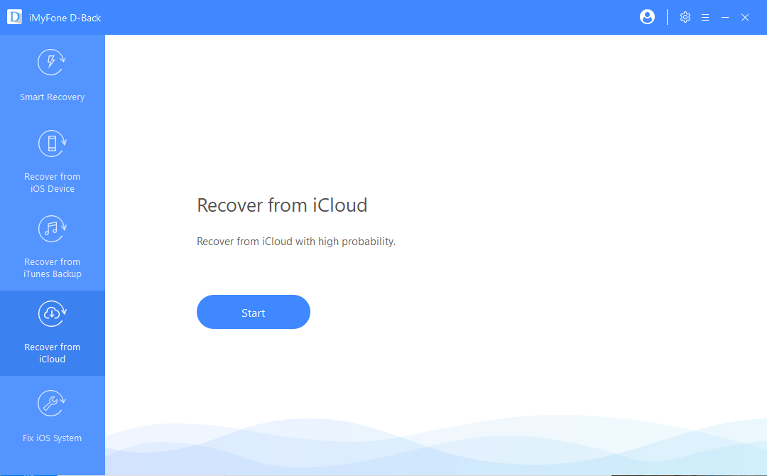 choose recover from icloud mode