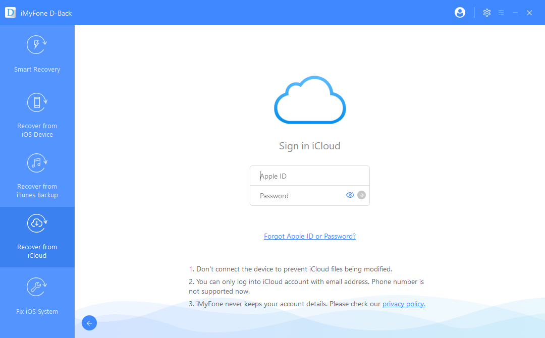 sign in to icloud account