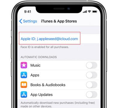 find apple id on itunes an app stores