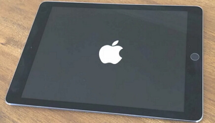 ipad stuck on apple logo after update