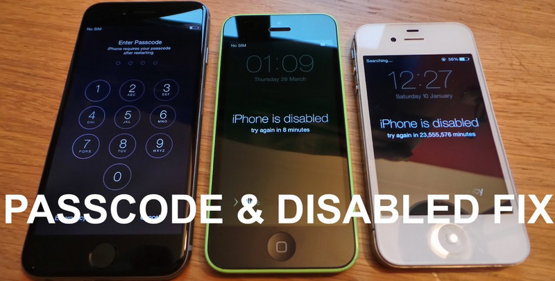 Locked iPhone and erased iPhone