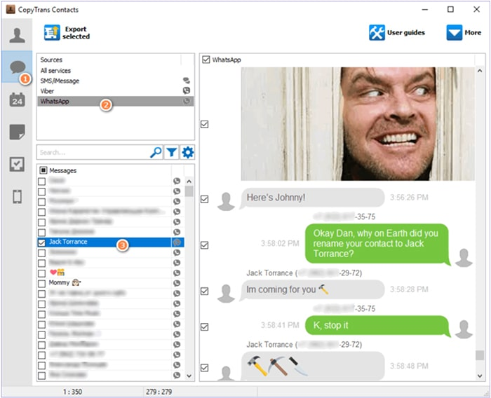 copytrans-contacts read whatsapp messages