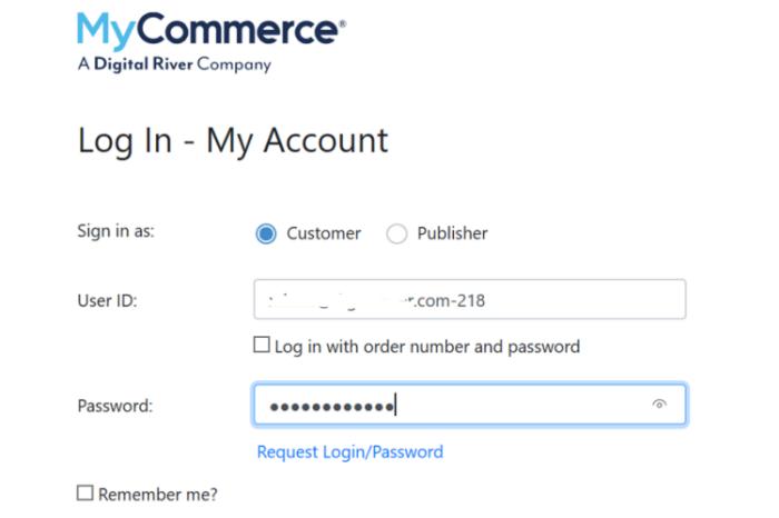 login my commerce