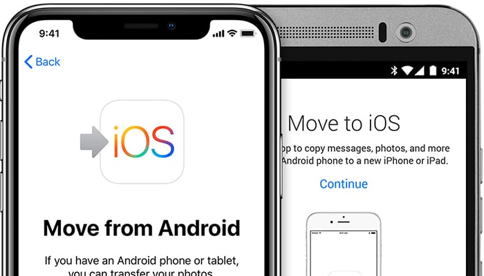move to ios android to iphone transfer