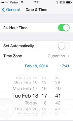 change the date on iphone