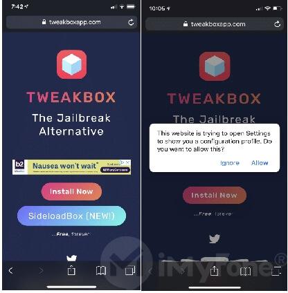 install tweak box