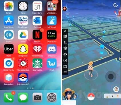play pokemon go with joystick