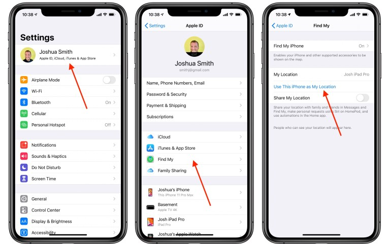 hide iPhone location from Find My Friends & iMessage
