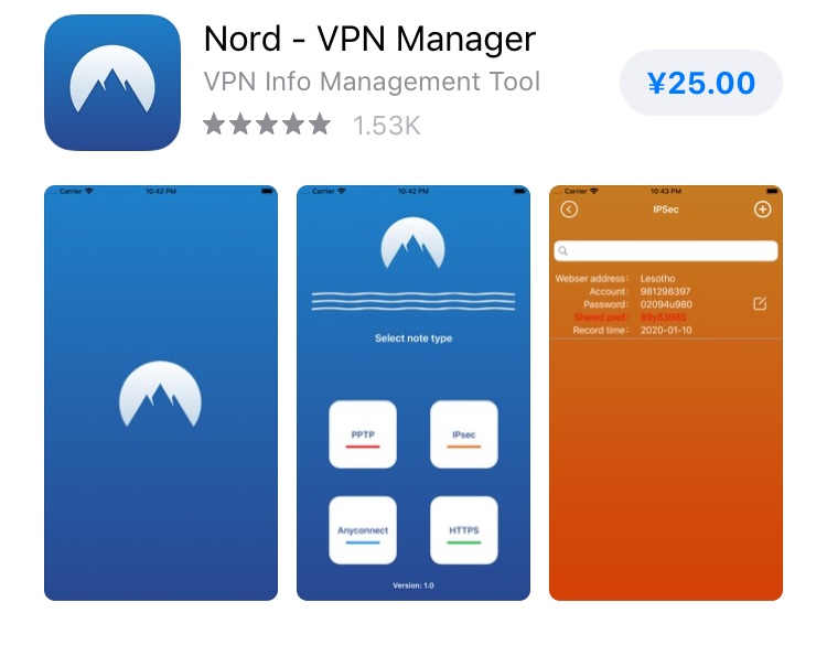 Download NordVPN from App Store