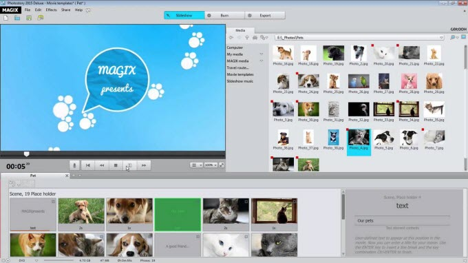 Photostory slideshow maker