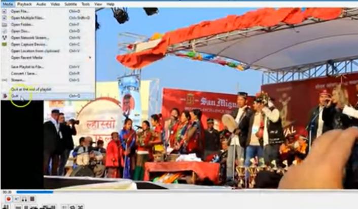 VLC Media Player split video