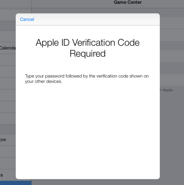 apple id verification code required