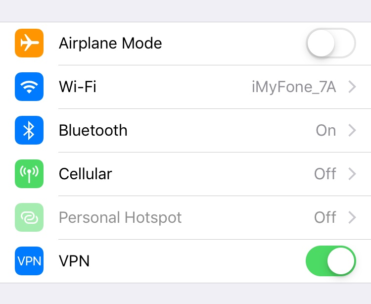 Enable your device VPN