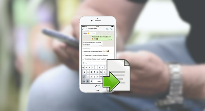 whatsapp export chat function