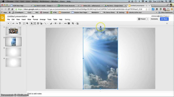 google slides slideshow