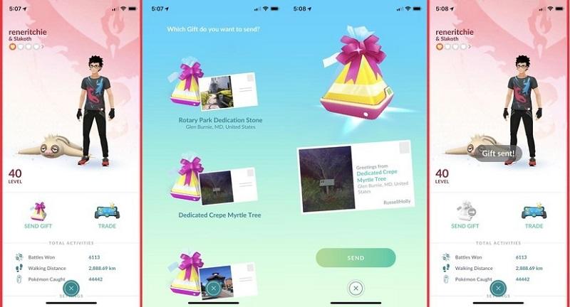 Geschenke an Ihren Freunden in pokemon go schenken
