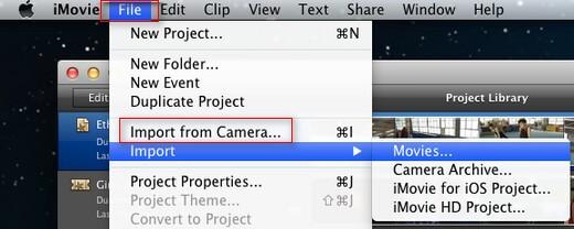 import videos imovie