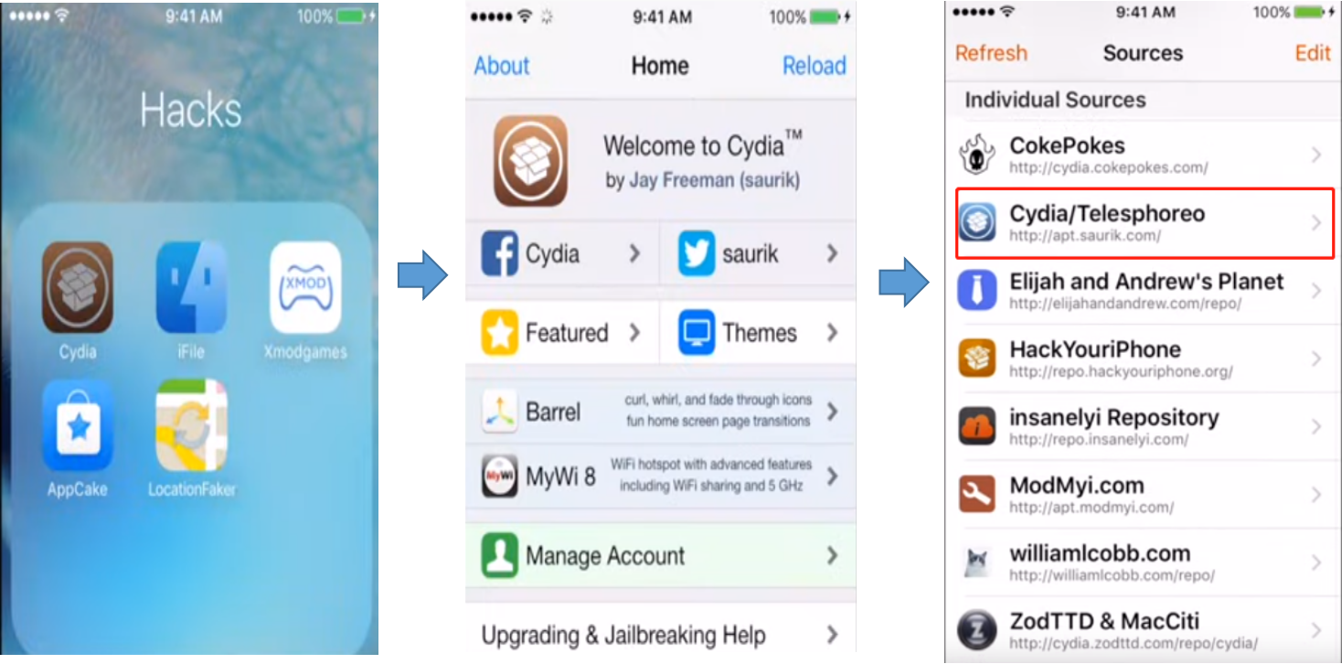 download LocationFaker from Cydia app