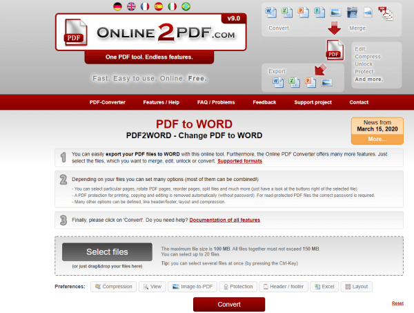 online2pdf pdf to word