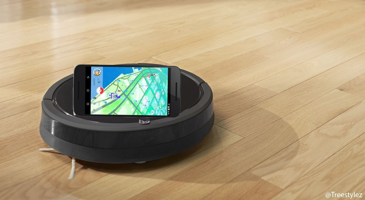use a Roomba to hatch eggs in Pokemon Go
