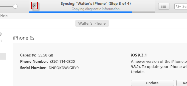 stop iTunes syncing iphone