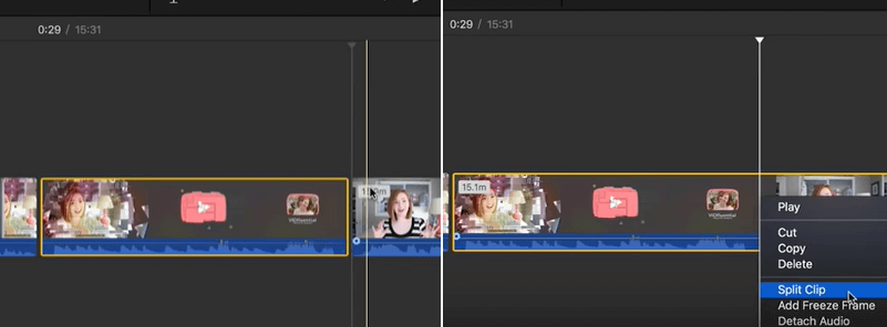 trim video in imovie