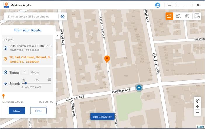 Choose a virtual location
