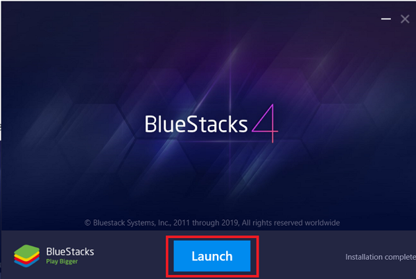 download and launch BlueStacks