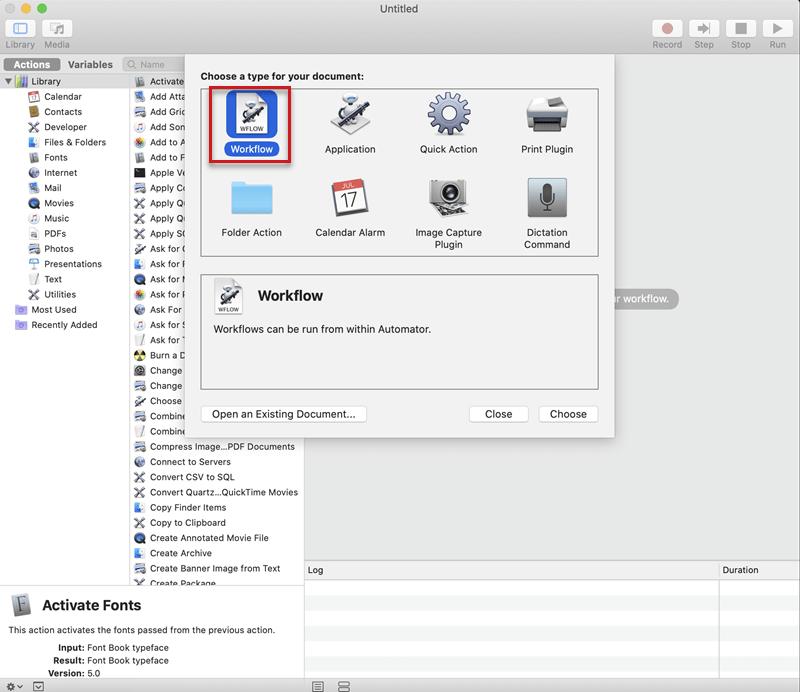 automator mac convert pdf to word