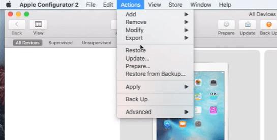configurator 2 remove iphone supervision