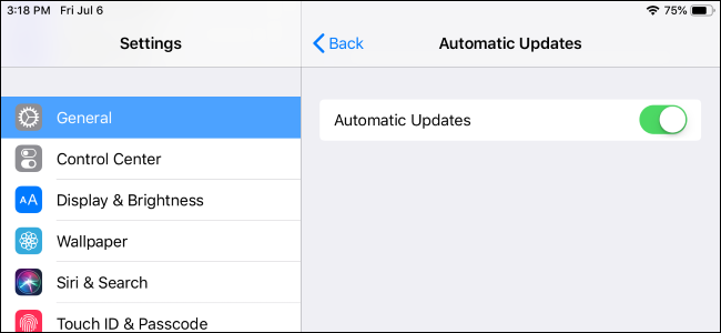 disable iphone software automatic updates