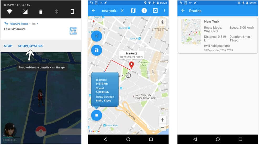 enable Fake GPS
