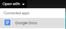 google docs convert pdf to word