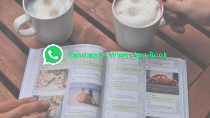 handmade whatsapp chat book