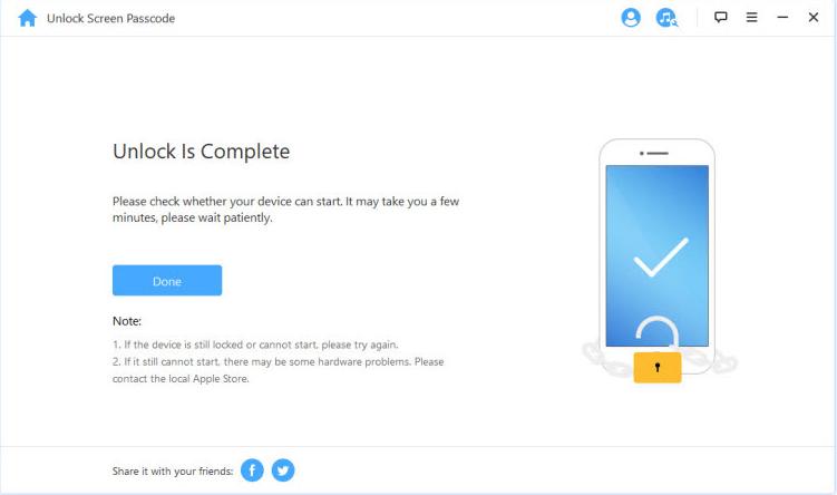 iMyFone LockWiper remove passcode 5