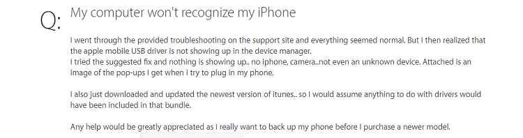 iphone doesn't show up on windows 10