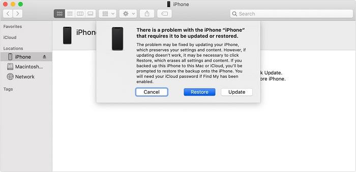 restore iphone in dfu mode