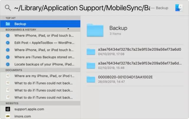 locate mac backup files