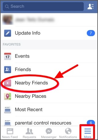 use Find Nearby Friends