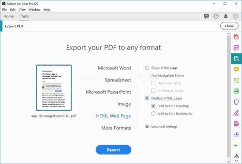 pdf html5 adobe acrobat pro