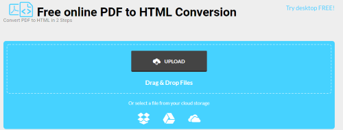 pdf to html5 google doc