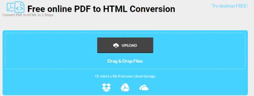 pdf to html5 google doc