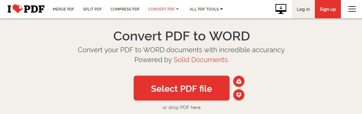 pdf to word converter online