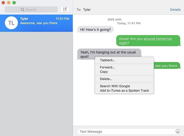 permanently delete text messages from mac