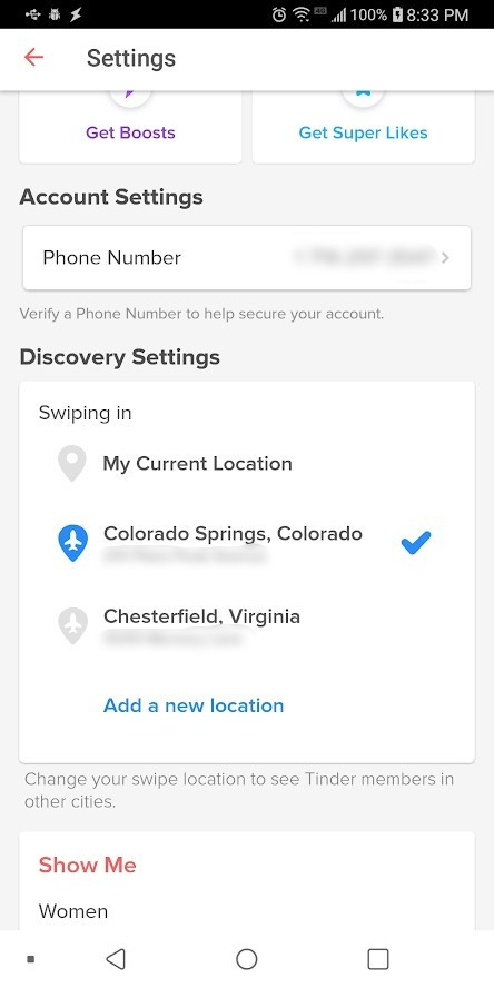 look for discovery settings