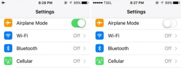 turn off Airplane Mode