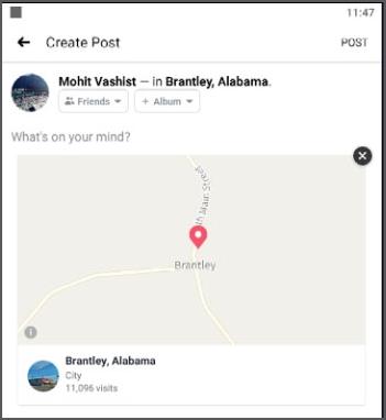 post location